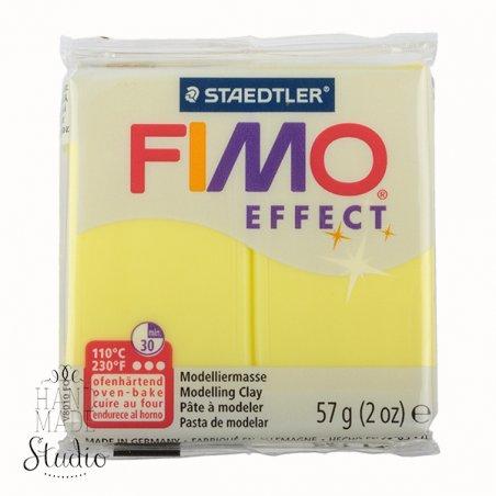 Полімерна глина Fimo Effect, №104, жовта напівпрозора, 57 г