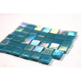 Мозаика бело-зеленая 29У40   2х2 см