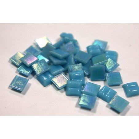 Мозаика стеклянная синяя перламутровая WA12,1х1 см.