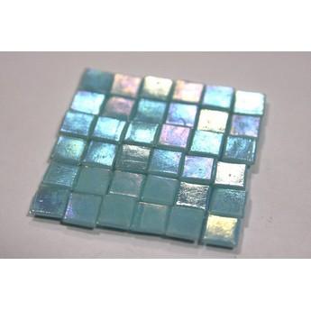 Мозаика стеклянная светло-синяя перламутровая WA16,1х1 см.