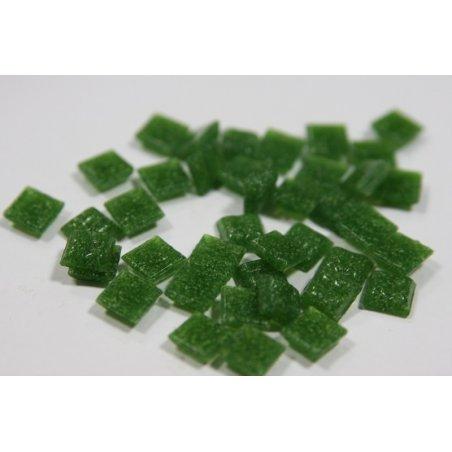 Мозаика с вкраплениями насыщенный зеленый А26   1х1 см.