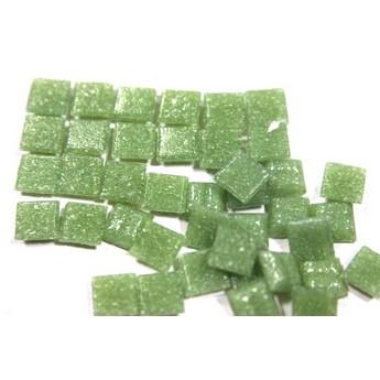 Мозаика с вкраплениями зеленая пастельная  А22, 1х1 см.