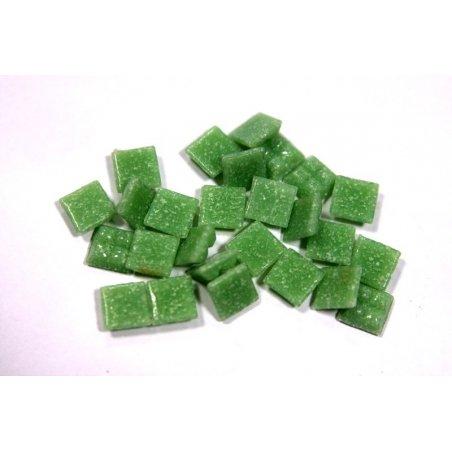 Мозаика с вкраплениями зеленый слабый Х46, 1х1 см.