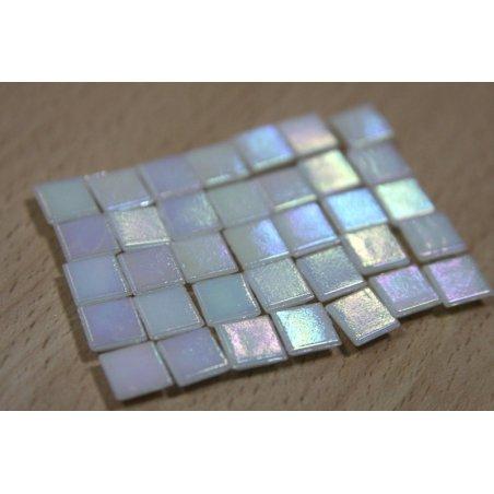 Мозаика стеклянная белый перламутр WA02 ,1х1 см.