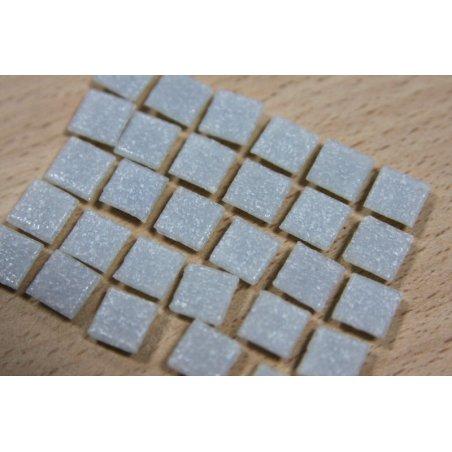 Мозаика с вкраплениями белая насыщенная А01 , 1х1 см.