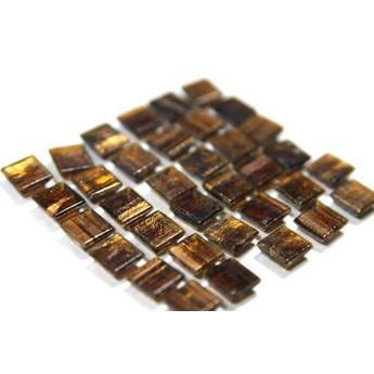 Мозаика стеклянная коричневый с пигментными разводами G36,1х1 см.