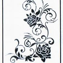 """Универсальный трафарет Viva 21х29,7 см """"Угловой орнамент с розами"""" 9002 071 00"""