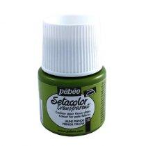 18 Краска по светлым тканям желто зеленый 018 Transparent Setacolor Pebeo