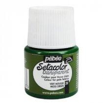 028 Краска по светлым тканям зеленый мох  Transparent Setacolor Pebeo