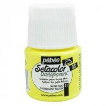 031 Краска по светлым тканям флуоресцентный желтый  Transparent Setacolor Pebeo