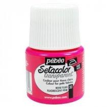 033  Краска по светлым тканям флуоресцентный розовый Transparent Setacolor Pebeo