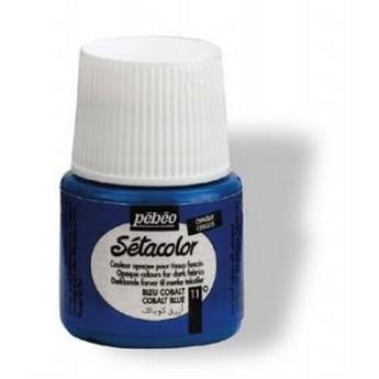 Краска для темных тканей титановые белила 010 Setacolor Opaque Pebeo
