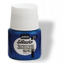 011 Краска для темных тканей кобальт голубой  Setacolor Opaque Pebeo