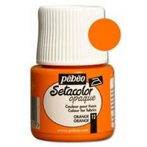 012 Краска для темных тканей оранжевая Setacolor Opaque Pebeo