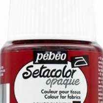 Краска для темных тканей Setacolor Opaque Pebeo №015 Красная, 45мл.