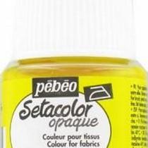 017 Краска для темных тканей лимонно-желтая Setacolor Opaque Pebeo