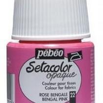 022 Краска для темных тканей Восточная розовая  Setacolor Opaque Pebeo
