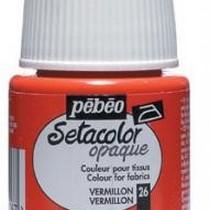 026 Краска для темных тканей вермилион  Setacolor Opaque Pebeo
