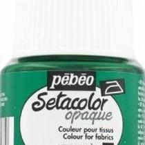027 Краска для темных тканей зеленая  Setacolor Opaque Pebeo