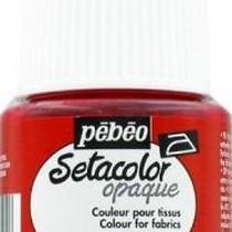 050 Краска для темных тканей вишневая  Setacolor Opaque Pebeo