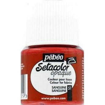 Краска для темных тканей вишневая 050 Setacolor Opaque Pebeo