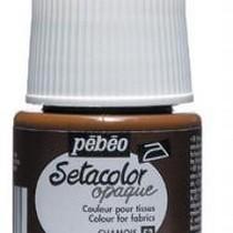 053 Краска для темных тканей коричнево-серая Setacolor Opaque Pebeo
