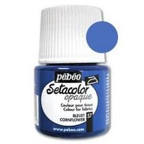 057 Краска для темных тканей васильковая   Setacolor Opaque Pebeo