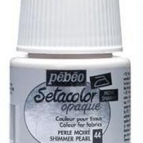 Краска для темных тканей Setacolor Opaque Pebeo №044 Металлик перламутровый, 45мл.