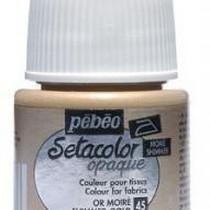 Краска для темных тканей Setacolor Opaque Pebeo №045  Металлик золото, 45мл.