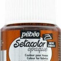 047 Краска для темных тканей металлик светлая медь Setacolor Opaque Pebeo