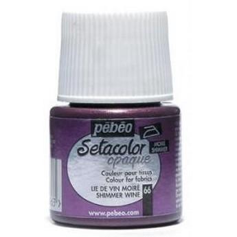 Краска для темных тканей металлик серебро 060 Setacolor Opaque Pebeo
