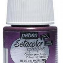 066 Краска для темных тканей металлик  фиолетовый Setacolor Opaque Pebeo