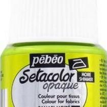 061 Краска для темных тканей металлик канарейка Setacolor Opaque Pebeo