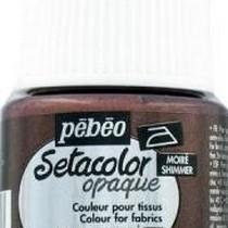 074 Краска для темных тканей металлик шоколадный Setacolor Opaque Pebeo