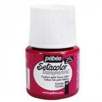 49 Краска по светлым тканям фуксия  Transparent Setacolor Pebeo