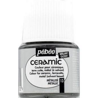 Краска-эмаль лаковая непрозрачная Ceramic Pebeo Цвет Пурпурный 012