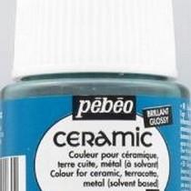 Краска-эмаль лаковая непрозрачная Ceramic Pebeo 16, цвет - турецкий Голубой, 45мл.