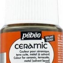 Краска-эмаль лаковая непрозрачная Ceramic Pebeo 19, цвет - серна, 45мл.