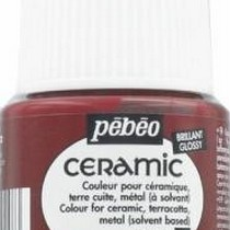 Краска-эмаль лаковая непрозрачная Ceramic Pebeo 20,  цвет - кармин, 45мл.