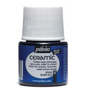 Краска-эмаль лаковая непрозрачная Ceramic Pebeo Цвет Вишнево - расный 024