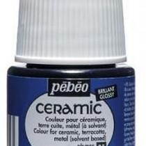 Краска-эмаль лаковая непрозрачная Ceramic Pebeo 25, цвет - севрский синий, 45мл.