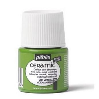 Краска-эмаль лаковая непрозрачная Ceramic Pebeo Цвет Зеленая Листва  027