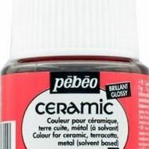 Краска-эмаль лаковая непрозрачная Ceramic Pebeo 31, цвет - цикламен, 45мл.