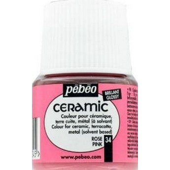 Краска-эмаль лаковая непрозрачная Ceramic Pebeo Цвет Светло Желтый 033