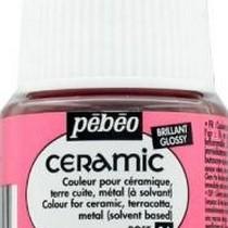 Краска-эмаль лаковая непрозрачная Ceramic Pebeo 34, цвет - розовый, 45мл.