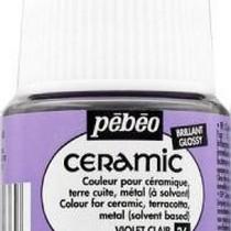 Краска-эмаль лаковая непрозрачная Ceramic Pebeo 36, цвет - светло-фиолетовый, 45мл.