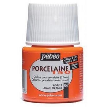Краска под обжиг непрозрачная Оранжевая  Porcelaine Pebeo 03