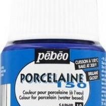 Краска под обжиг непрозрачная Porcelaine Pebeo 18, цвет - Сапфировый Синий, 45мл.