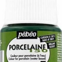 Краска под обжиг непрозрачная Porcelaine Pebeo 26, цвет - Зеленый малахит