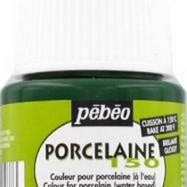 Краска под обжиг непрозрачная Porcelaine Pebeo 27, цвет - Зеленый оливковый, 45мл.